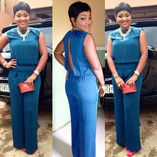 Check Out Mercy Aigbe-Gentry's Outfit To The African Magic Viewers Choice Awards Nominees Party!