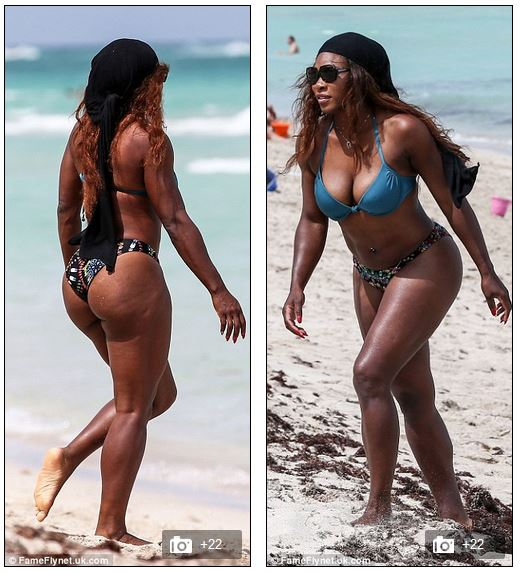 That serena bikini beach world pity
